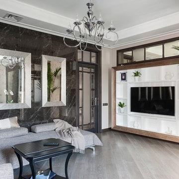 Реализованный проект интерьеров квартиры 159 кв. метров на Суворовском проспекте