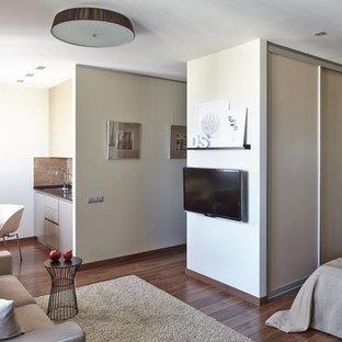 Идея дизайна: гостиная комната в современном стиле