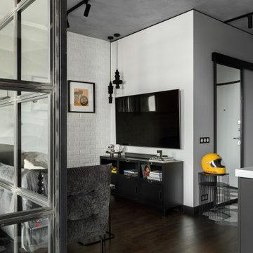 Современный интерьер квартиры-студии
