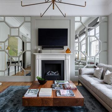 Стеновые панели с фацетированным зеркалом