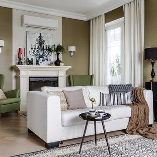 Удачное сочетание для дизайна помещения: большая гостиная комната в стиле современная классика - самое интересное для вас