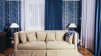 Текстильное оформление дома в английском стиле