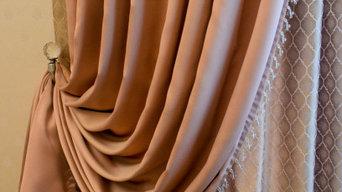 Текстильное оформление гостиной в классическом стиле
