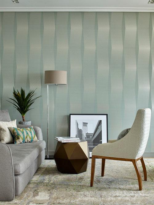 Living room design ideas renovations photos with carpet for Green carpet living room ideas