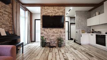 Вид с дивана на ТВ зону