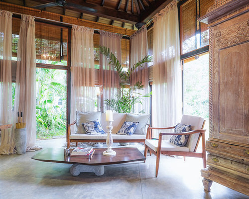 Inspiration For A Tropical Formal Living Room Remodel In Other