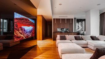Встроенный телевизор в Башне ОКО на 81 этаже (Москва Сити)