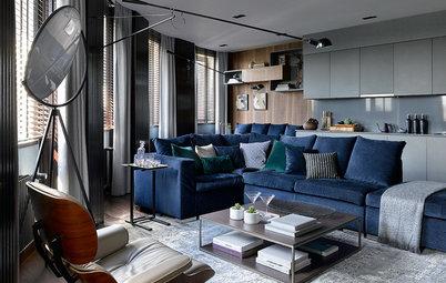 Houzz тур: Квартира с пятью (!) окнами в гостиной