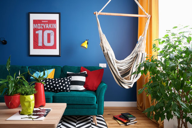 Eclectic Living Room by Sova