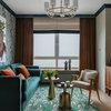 Houzz тур: Квартира с изумрудным диваном
