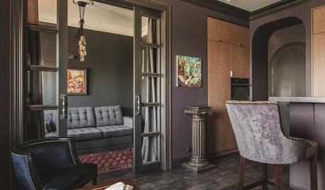 Houzz тур: Апартаменты с картиной в камине