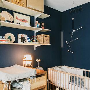 Ejemplo de habitación de bebé nórdica pequeña