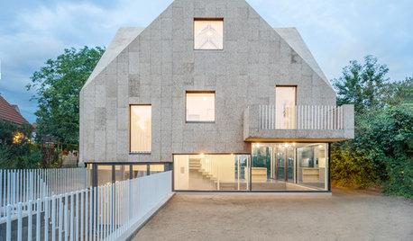 Architektur: Ein Haus mit Korkfassade und Stampfbeton-Wänden