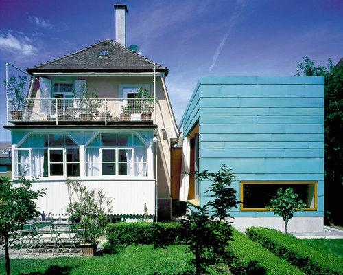 moderne h user mit flachdach ideen f r die fassadengestaltung houzz. Black Bedroom Furniture Sets. Home Design Ideas