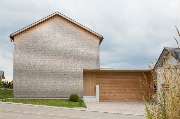 Holzhaus Architektur architektur einfamilien holzhaus mit schindeln im allgäu