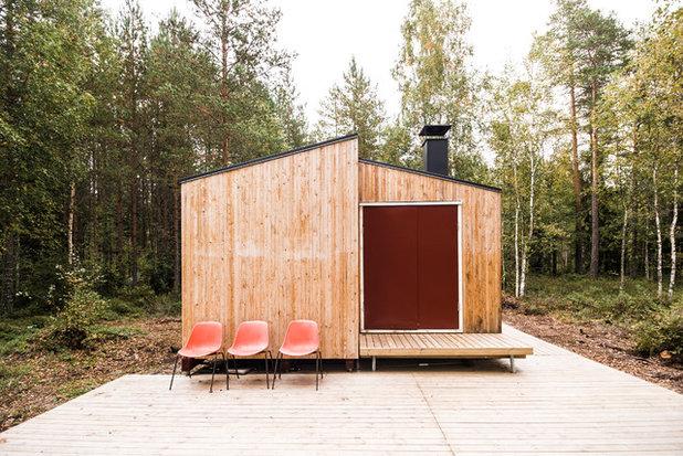 Scandinavian Exterior by studio politaire