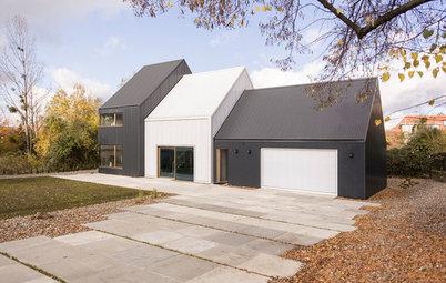 費用は抑えてもデザインは妥協しない。工業用の材料で建てた家