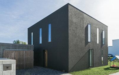 Architektur: Ein grauer Kubus lässt die Landschaft leuchten