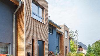 Doppelhaus in Holzrahmenbauweise