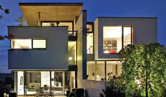 Doppelhaushälften am Hang