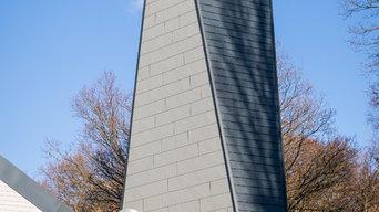 Ehemaliger Kirchturm in neuem Kleid - PREFA Schindel und Siding