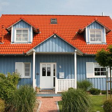 Ein Schwedenhaus in Blau