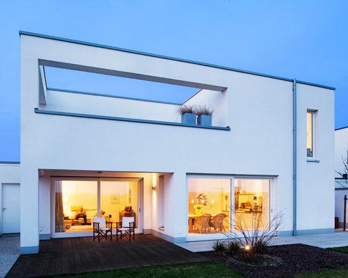 white exterior design ideas renovations photos. Black Bedroom Furniture Sets. Home Design Ideas