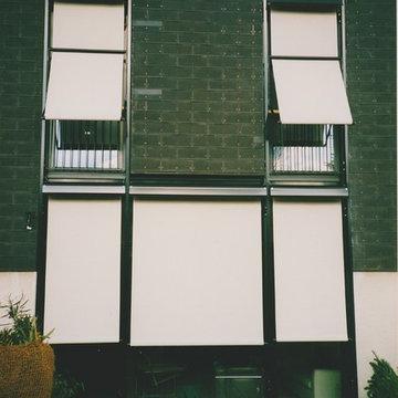 Fassade nach Umbau - Sonnenschutz