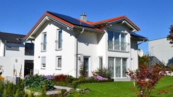 Fertiges Bauvorhaben - fertige Grünanlagen