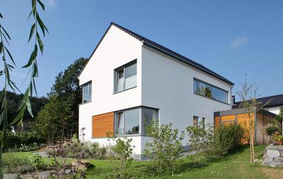 Ein Neubau mit viel Weiß, Wärme und Weitblick