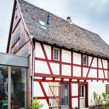 Hainstädter Strasse, Hanau-Kleinauheim - Sanierung  Fachbwerkbau