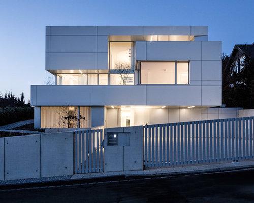 hanghaus weiaes geraumiges drei oder mehrstackiges modernes haus mit flachdach in da 1 4 sseldorf haas fertigbau