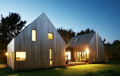 Architektur: Modernes Wohnhaus im Scheunen-Stil bei Hamburg