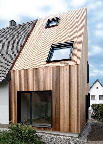 architektur massivholzanbau f r ein augsburger siedlungshaus. Black Bedroom Furniture Sets. Home Design Ideas