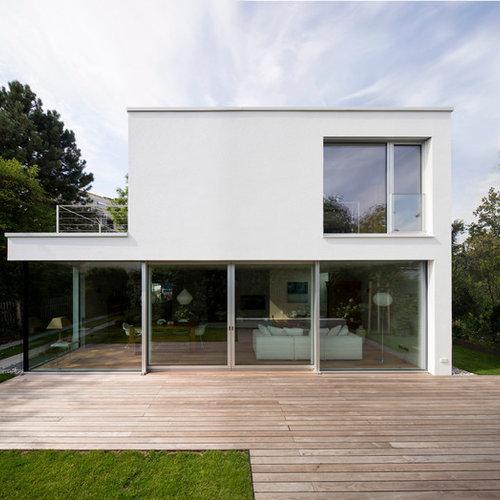 Modernes haus mit betonfassade ideen design bilder for Modernes haus bilder