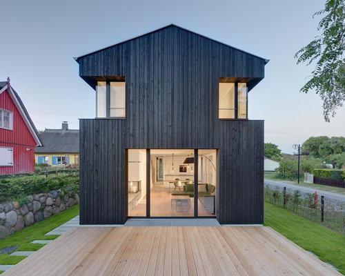 Skandinavische h user und fassaden mit holzfassade ideen for Nordisches haus bauen