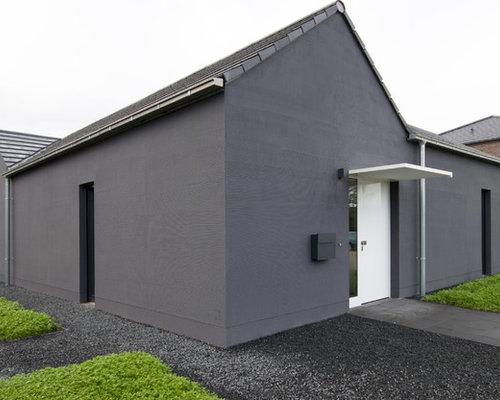 Zweistöckiges Modernes Haus Mit Satteldach In Dortmund