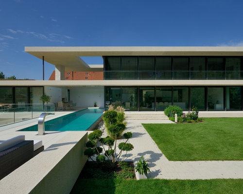 Moderne häuser und fassaden mit glasfassade ideen für die haus