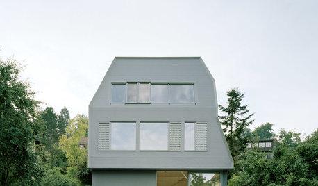Houzz Германия: Экологический дом-башня с фасадом из каучука
