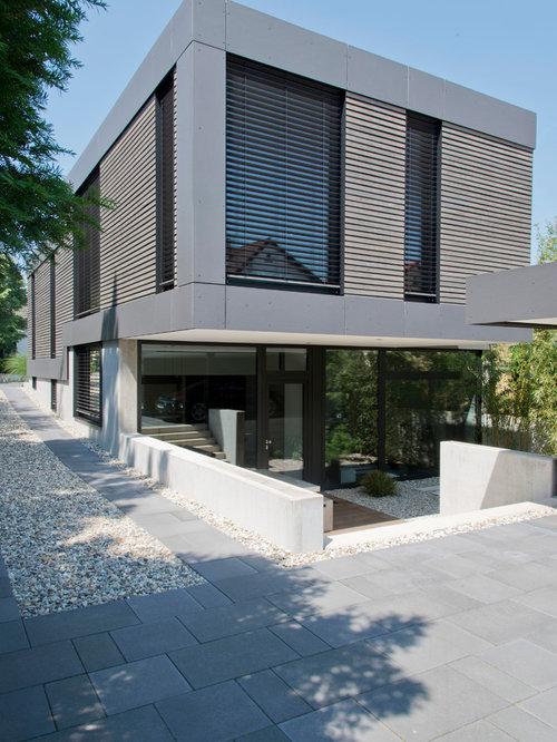 Gro e h user mit betonfassade ideen design bilder houzz for Modernes haus dortmund