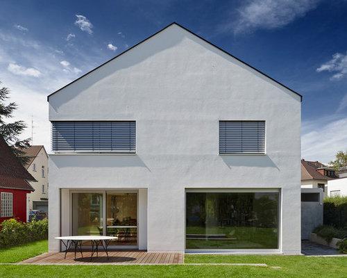 Awesome Beautiful Fr Zweistckige Weie Groe Moderne Huser Mit Satteldach In  Frankfurt Am Main With Hausfassade Gestalten Ideen With Hausfassade  Gestalten.