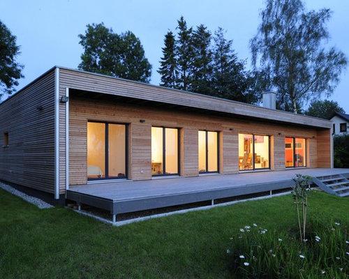 Moderne häuser und fassaden mit holzfassade ideen für die haus
