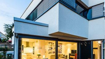 Neubau aufgefächertes Einfamilienhaus