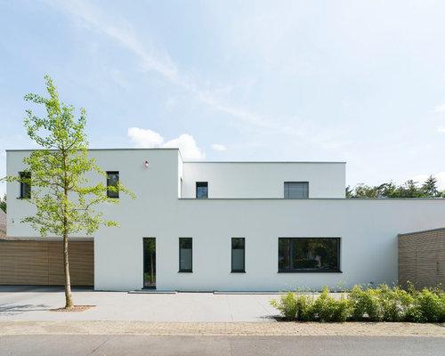 Häuser mit flachdach und putzfassade ideen für die