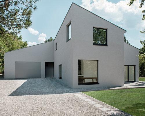 Fassadengestaltung modern pultdach  Fassadengestaltung Modern Pultdach | Haus Deko Ideen