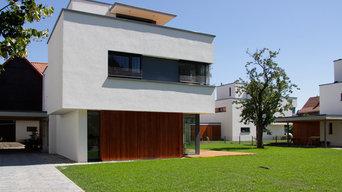 Neubau Ensemble von drei Einfamilienhäusern