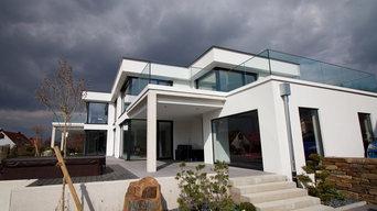 Neubau moderne Flachdachvilla in Weißenburg