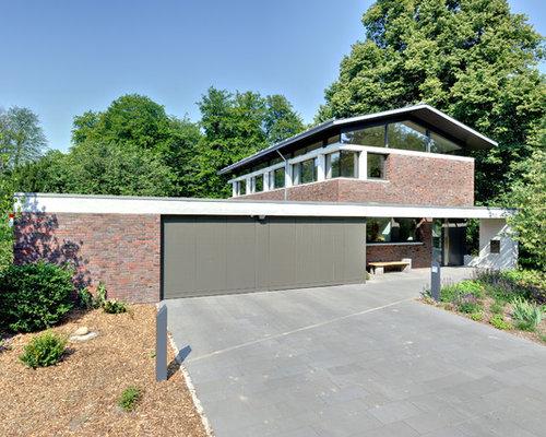 Moderne häuser und fassaden mit backstein fassade ideen für die