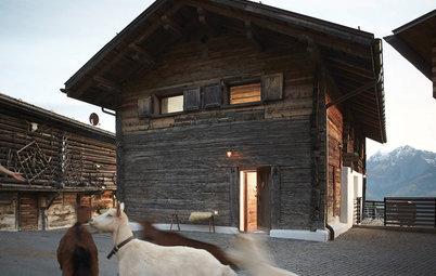 Houzzbesuch: Uriges Chalet von 1841 in den Schweizer Alpen