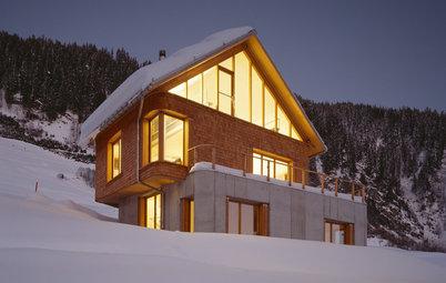 Casas Houzz: Una chalé sin escaleras con vistas a Los Alpes